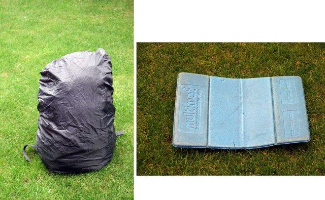 Rucksac Raincover and mat