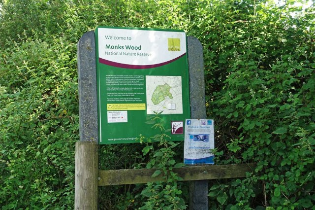 Monks Wood Sign
